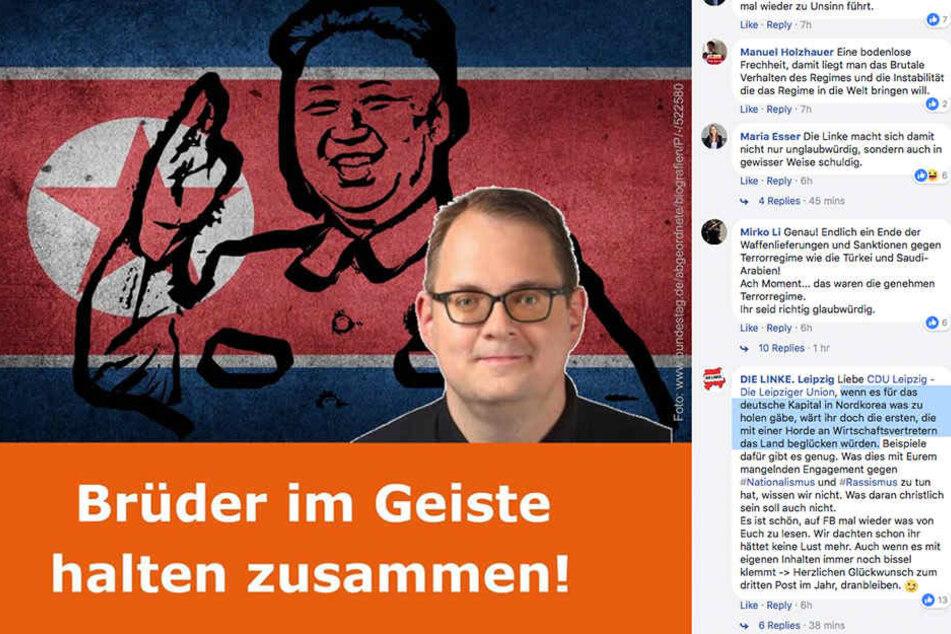Auf Facebook geht die Leipziger CDU-Fraktion auf den Linken-Bundestagsabgeordneten Pellmann los.