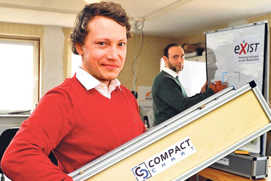Sanny Reich (30) ist stolz: Er holte ein EXIST-Stipendium nach Freiberg.
