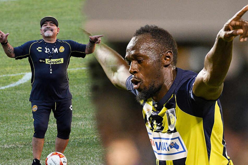 Das wäre eine Sensation! Spielt Usain Bolt bald für Maradona?