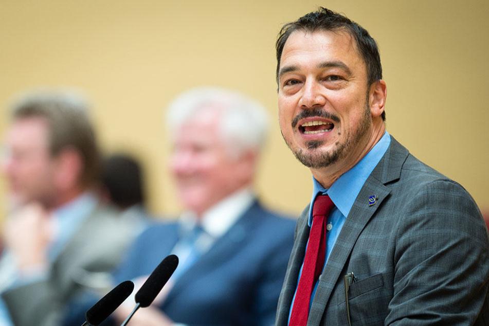 LinusFörster (51, SPD) spricht im Juni 2016 während einer Plenarsitzung im Landtag in München.