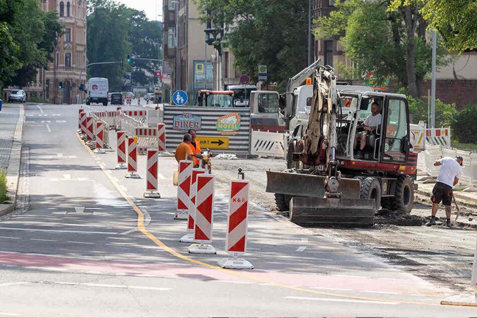 Zwickauer wieder dicht: 3. Baustelle an der Kappler Drehe sorgt für Ärger
