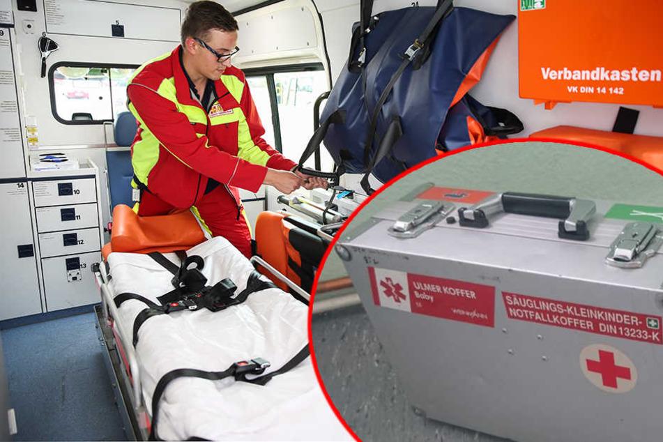 Gefährlicher Klau: Diebe stehlen Notfallkoffer für Babys aus Rettungswagen