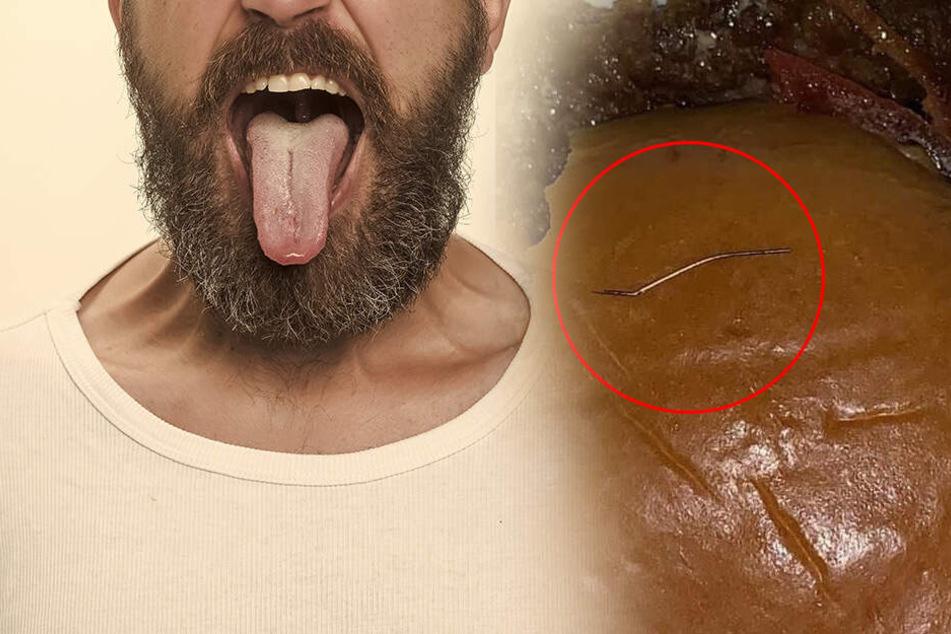 McDonald's-Kunde geschockt: Nadel durchbohrt Zunge, als er in Burger beißt