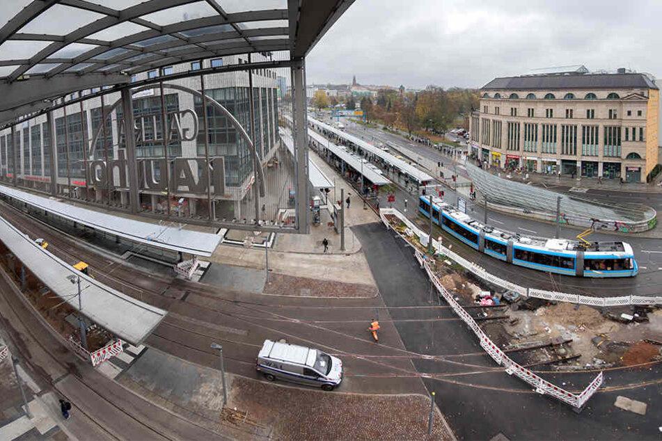 Am Donnerstag starten die Bauarbeiten vor dem Tietz.