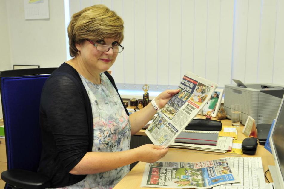 Geschäftsführerin des Jobcenters Chemnitz Katrin Heinze (55) stieß beim Zeitunglesen auf Melanie Trögers Fall und handelte.