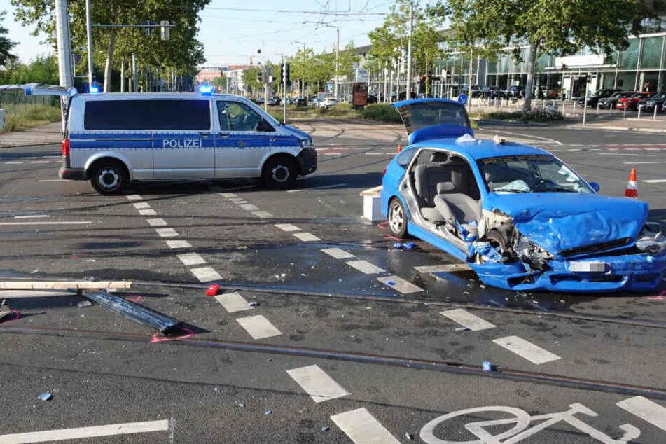 Am Mittwochabend war es zu einem schweren Unfall im Leipziger Südosten gekommen.