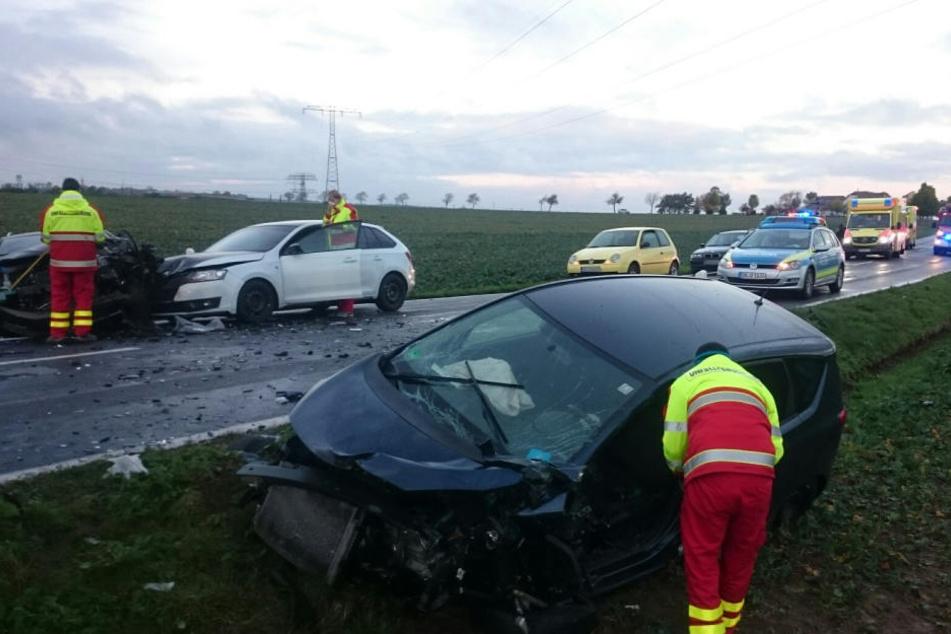 Drei Autos sind bei #Lenz im Berufsverkehr zusammengekracht.
