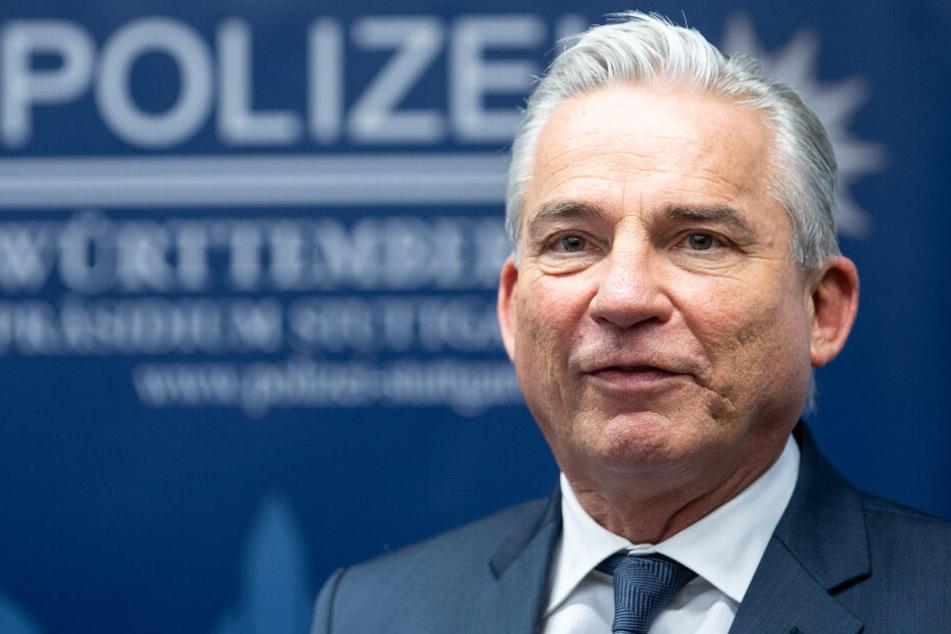"""""""Gewalt und Sachbeschädigung gehen halt gar nicht"""", sagt Thomas Strobl."""