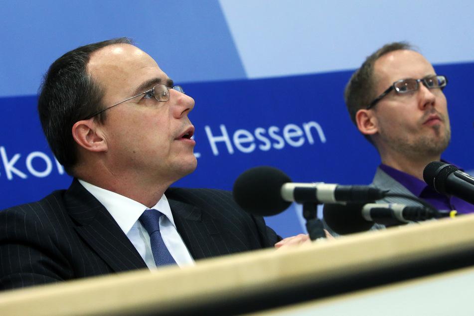 Sozialminister Kai Klose (Grüne, r.) und Innenminister Peter Beuth (CDU). (Archivbild)