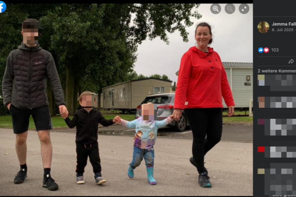 Jemma mit ihren drei Kindern (v.l.n.r.) Louis (17) Magnus (4) und Bronwen (3).