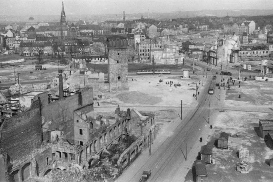 80 Prozent der Stadt Chemnitz wurden völlig zerstört.