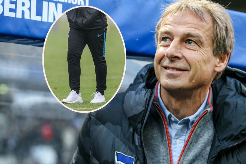Jürgen Klinsmann schafft auf Dienstreisen zu Auswärtsspielen die Jogginghose ab. (Bildmontage)