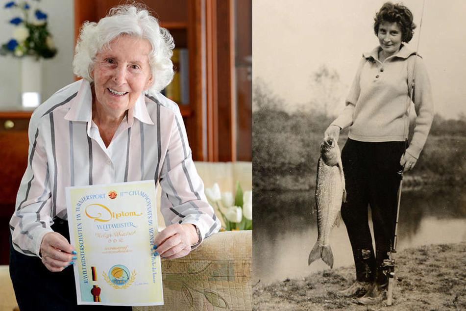Erst Sopranistin, dann Angel-Ass: Helga Wischer-Trantow (84) holte 1961 bei  den II. Weltmeisterschaften im Turniersport der Sportangler in Dresden den  Weltmeister-Titel.