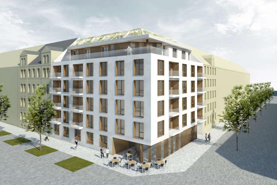 Modern und günstig: Am Brühl 65 sollen Wohnungen für Azubis und Studenten  entstehen.