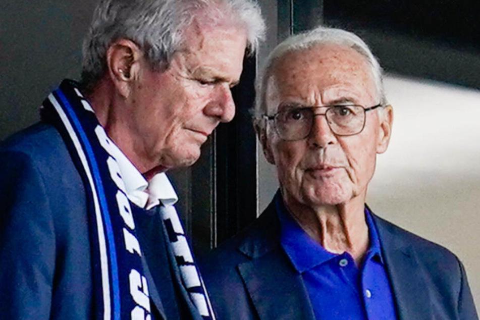 Dietmar Hopp (l.) ist unter anderem mit Franz Beckenbauer (r.) gut befreundet.
