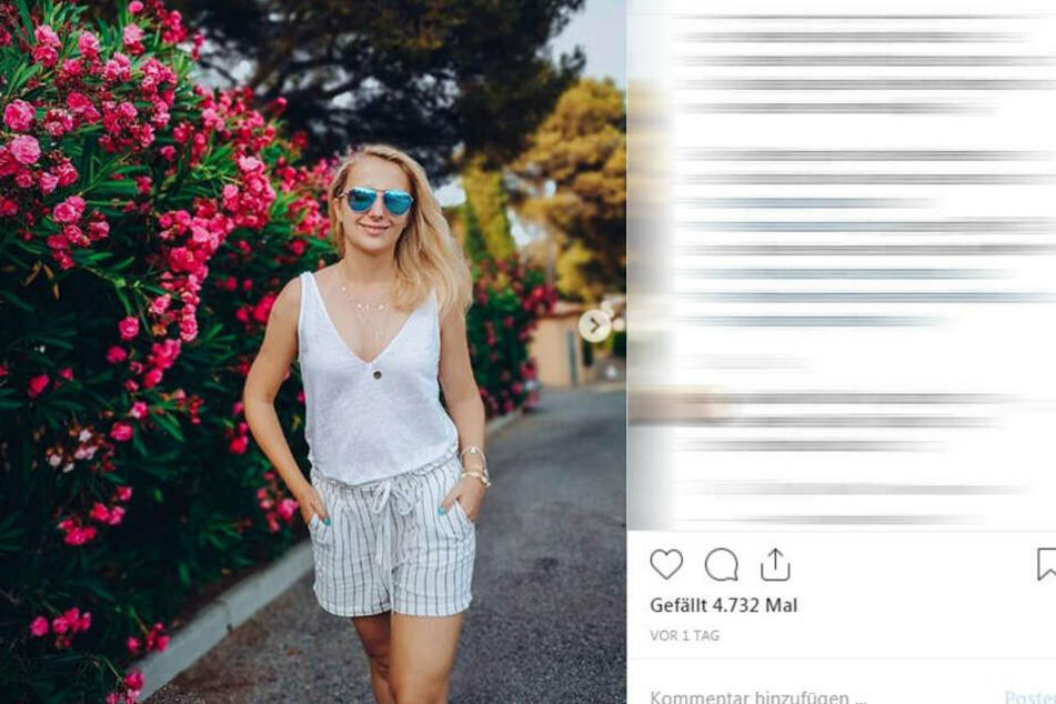 Anna Heiser (29) ohne Farmer Gerald (33) im Urlaub.