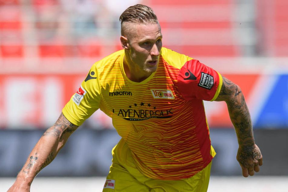 Gegen Aufsteiger Holstein Kiel will Stürmer Polter wieder knipsen.
