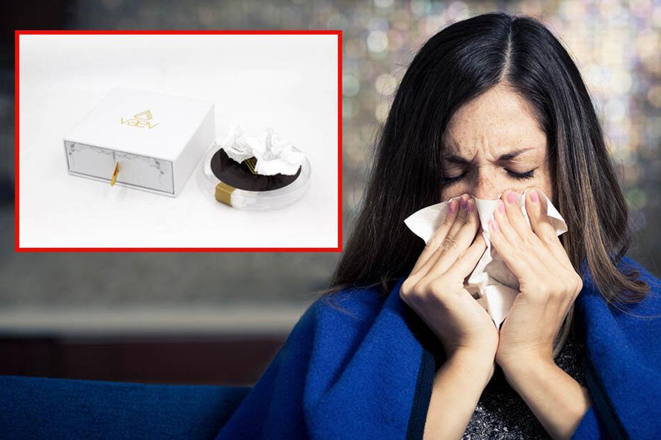 Erkältung auf Knopfdruck: US-Firma verkauft vollgerotzte Taschentücher