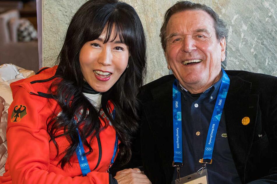 Gerhard Schröder mit seiner koreanischen Lebensgefährtin Soyeon Kim.