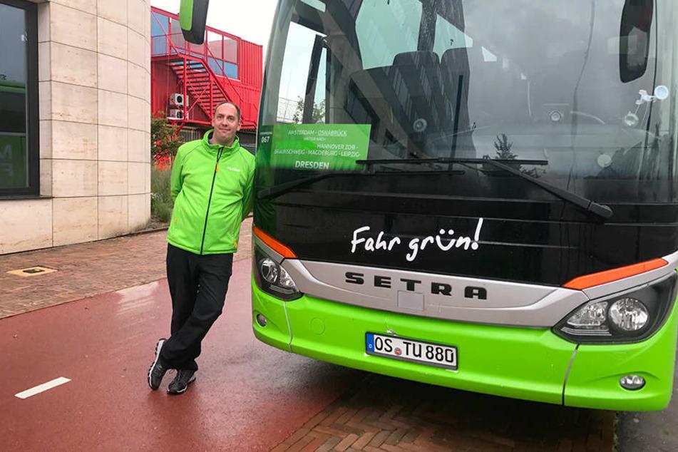 Dennis Brinkmann fährt gerne für Flixbus - auch wenn es manchmal stressig wird.