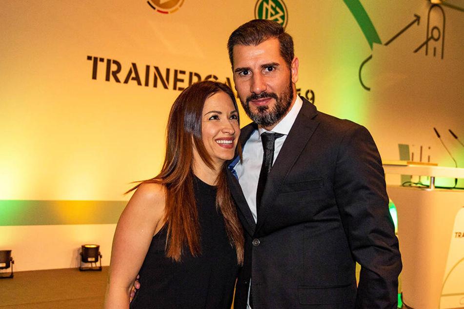 Dynamo-Coach Cristian Fiel wurde zur Trainergala von seiner Frau Diana begleitet.