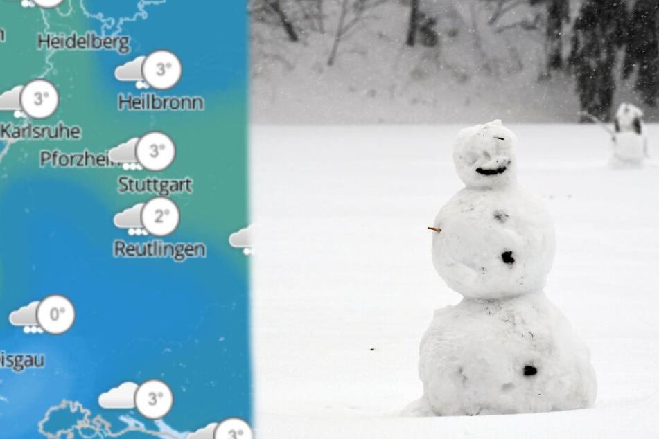 Jetzt gibt es Schnee! In diesen Gebieten wird es richtig weiß!