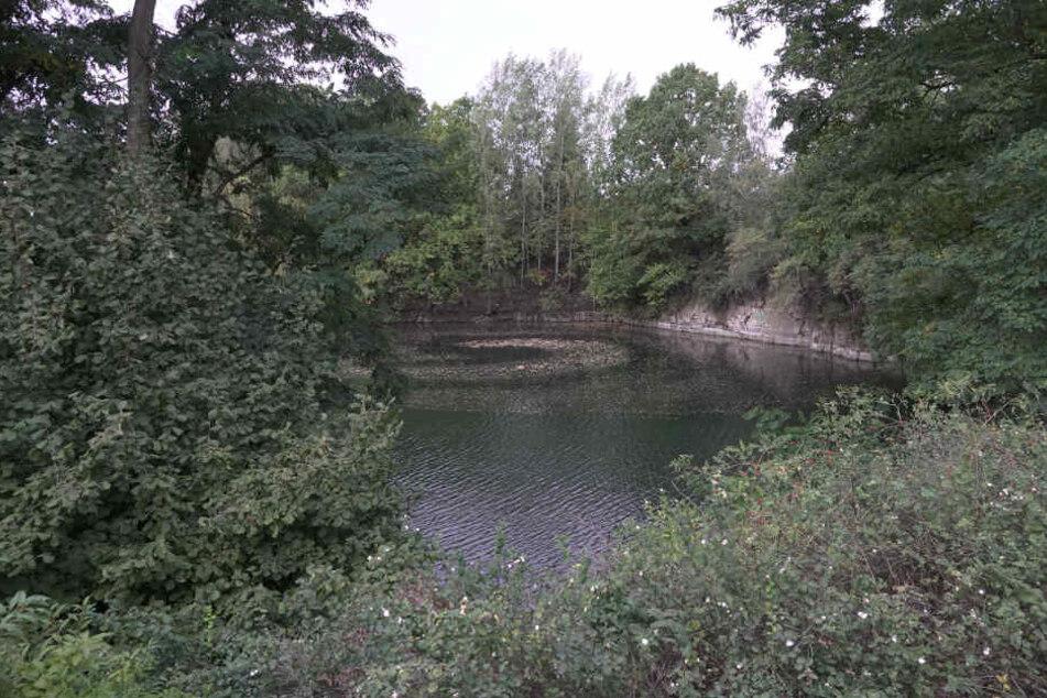 Im Steinbruch Wittgensdorf wurde am Sonntag eine Leiche gefunden.