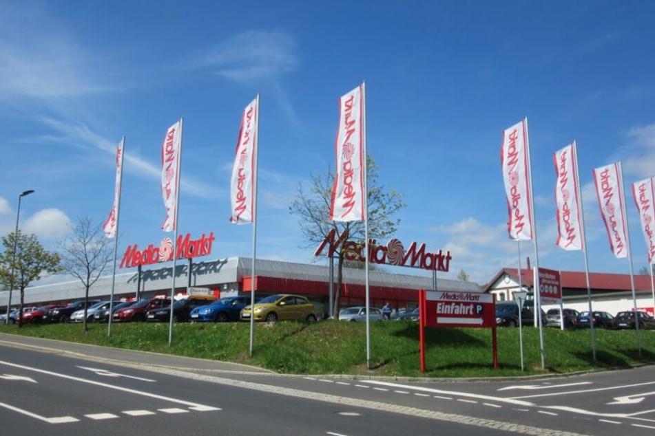 Der MediaMarkt Marktredwitz an der Waldershofer Straße.
