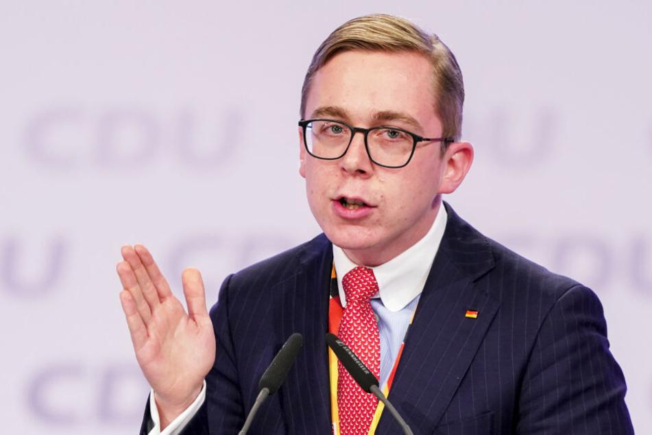 Philipp Amthor sprach beim 32. CDU-Bundesparteitag in Dresden im November 2019 (Archivbild).