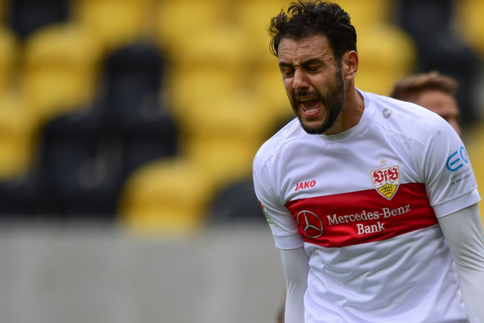 VfB-Stürmer Hamadi Al Ghaddioui traf in der 18. Minute zum 1:0 gegen Dynamo Dresden.