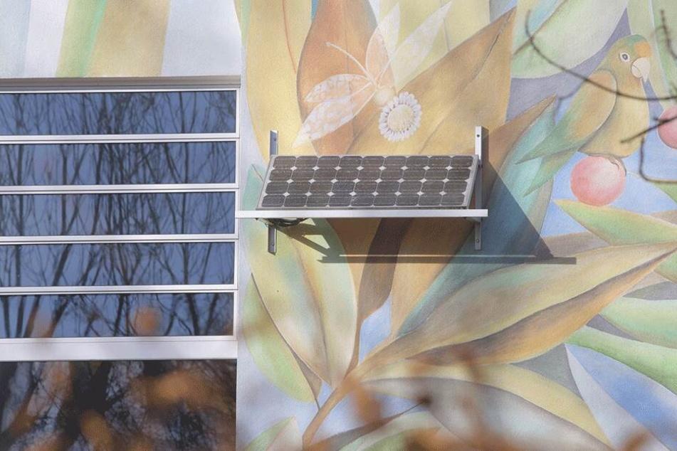 Die 138. Oberschule in Gorbitz gehört zu den zehn Schulen in Dresden, die eine kleine Solar-Demonstrationsanlagen von 1 Kilowatt Leistung besitzen.
