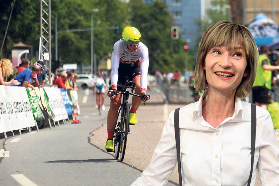 OB Barbara Ludwig (55, SPD, F.r.) ist sich nach der Radsportmeisterschaft sicher: Chemnitz kann große Sportveranstaltungen organisieren.