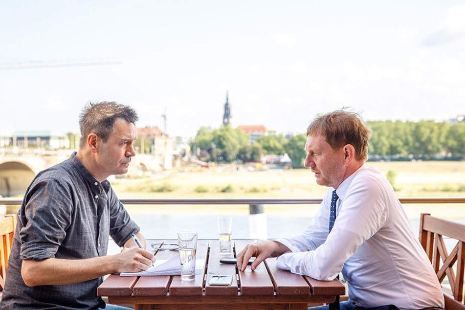 Der Ministerpräsident Michael Kretschmer im Interview mit Markus Griese.