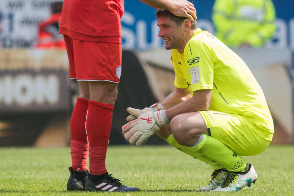 Schlussmann Hesl (31) war nach dem Unentschieden sehr enttäuscht.