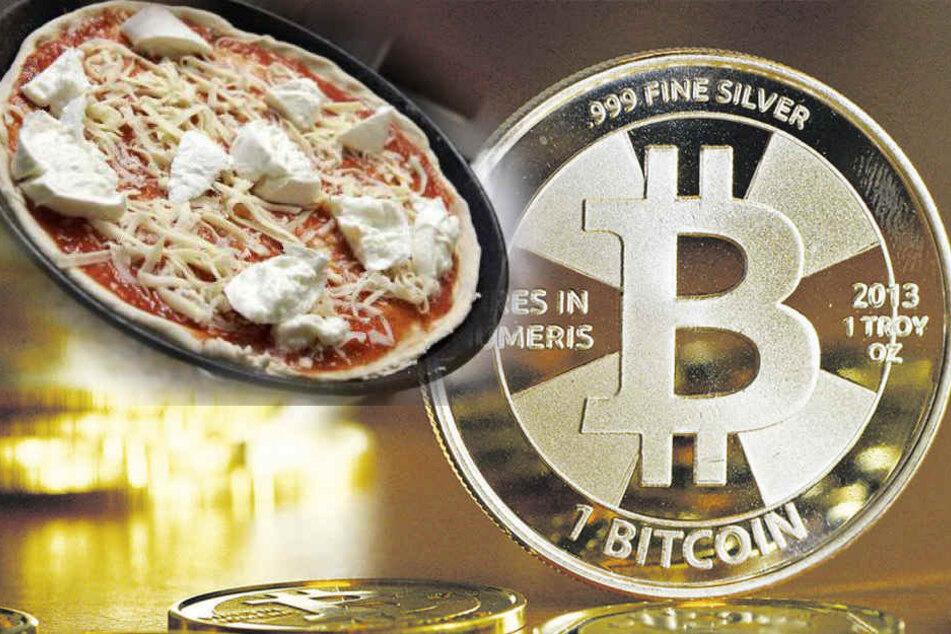 Mann bezahlt Pizza mit Bitcoins für heute rund 20 Millionen Dollar