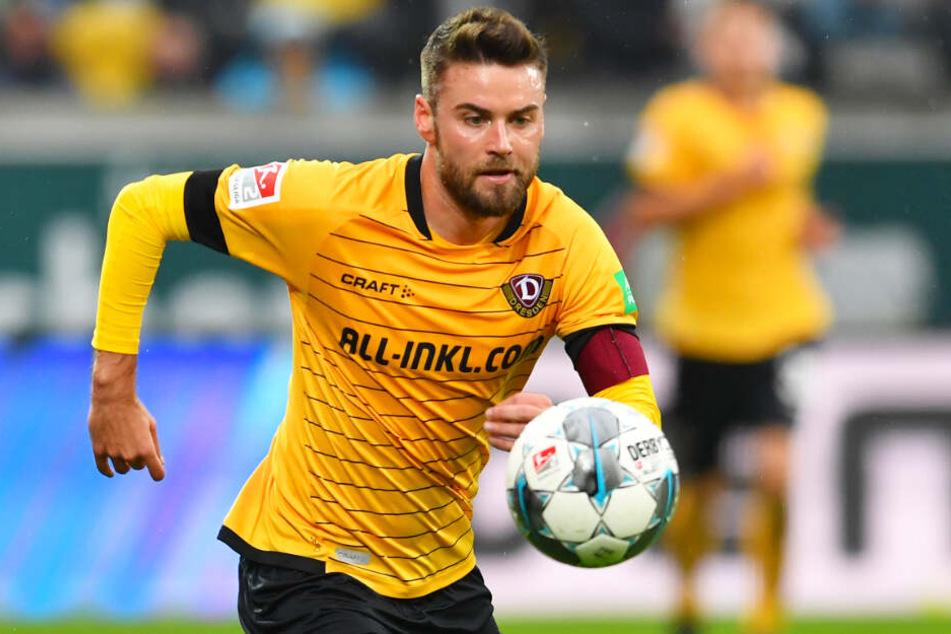 Niklas Kreuzer ging als Kapitän vorneweg und erzielte das einzige Dynamo-Tor in Hamburg.