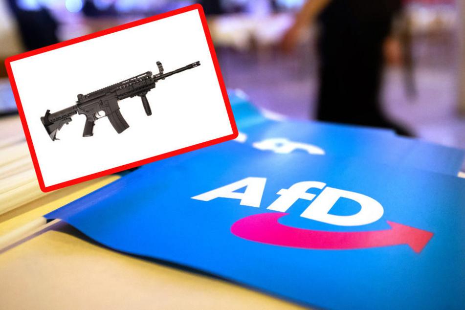 """""""Antifaneutralisator"""": Berliner AfD-Mann posierte mit Sturmgewehr"""