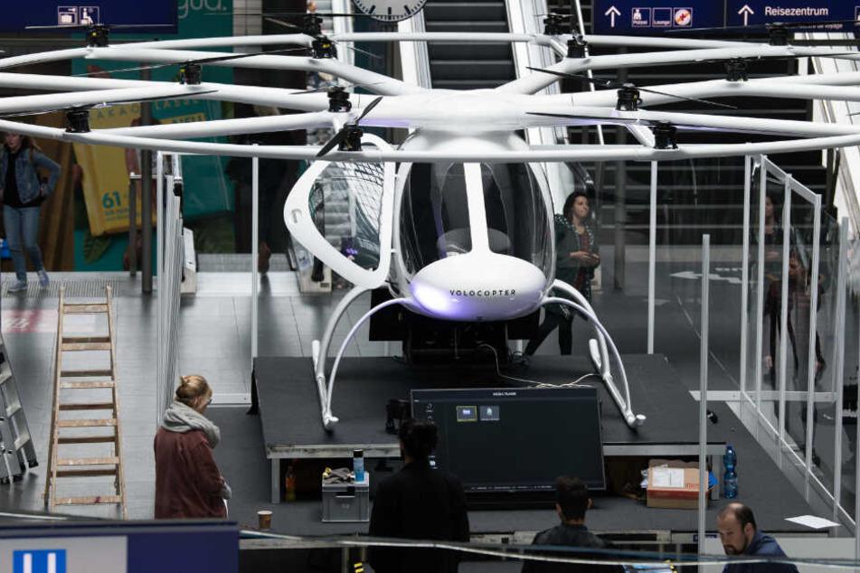 Hebt dieses fliegende Taxi heute zum ersten Mal in Deutschland ab?