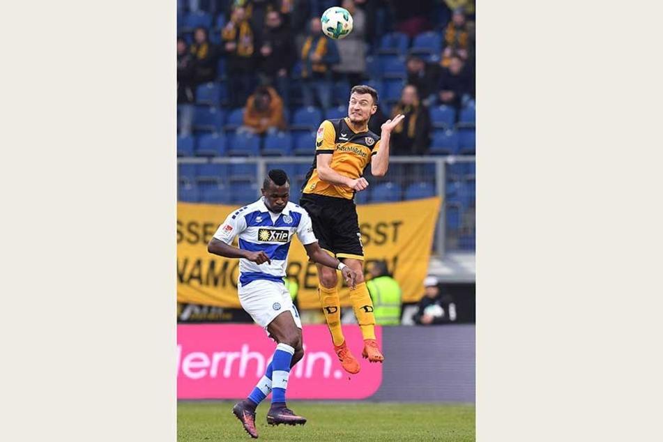 Vor einem Jahr war Florian Ballas (l.) mit von der Partie in Duisburg. Auf Kingsley Onuegbu wird er Sonntag jedoch nicht mehr treffen können, der ist gewechselt.