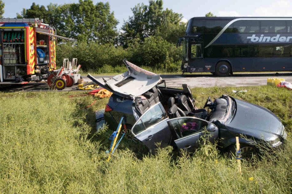 Die beiden Schwerverletzten waren in dem Auto unterwegs.