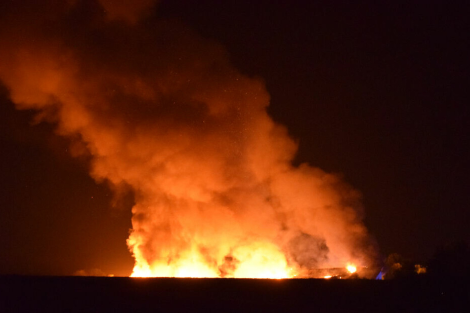Schon von Weitem war das Flammeninferno zu sehen.