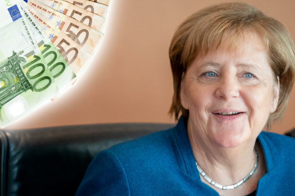 Bundeskanzlerin Angela Merkel (64) darf sich über eine doppelte Gehaltserhöhung freuen. (Bildmontage)