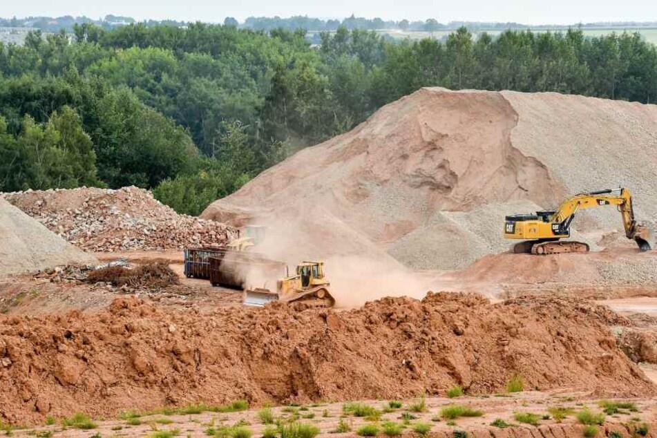 Die Baustelle in Zwickau-Marienthal im August 2017. (Archivbild