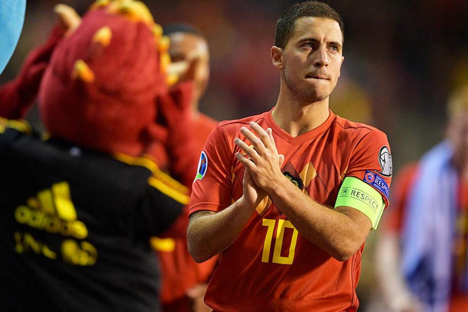 Neu-Königlicher Eden Hazard blickt mit seinen Belgiern weiter von der Spitze der Weltrangliste.