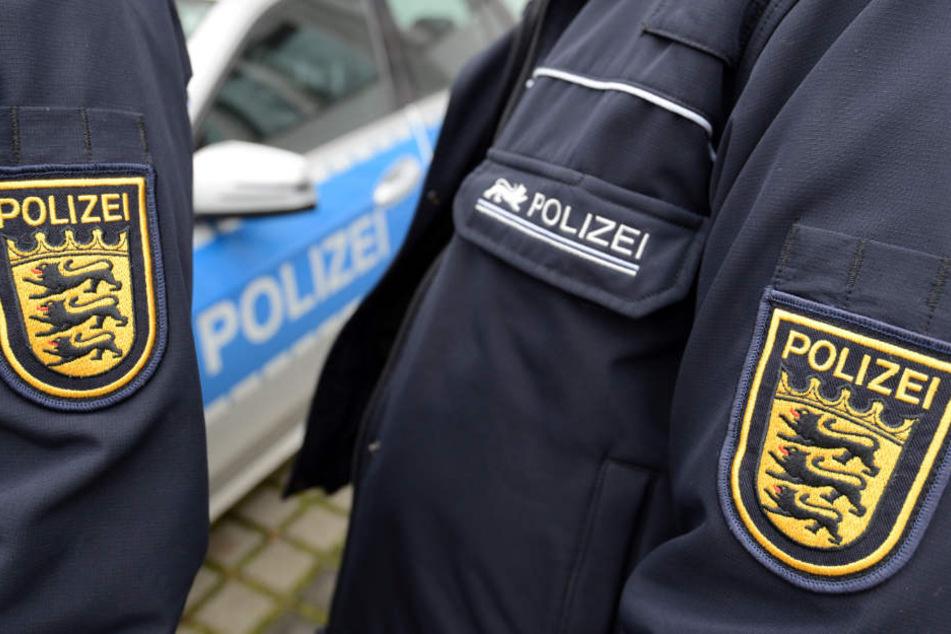 """Das Reh """"stellte sich"""" den Polizisten am Sonntagmorgen."""