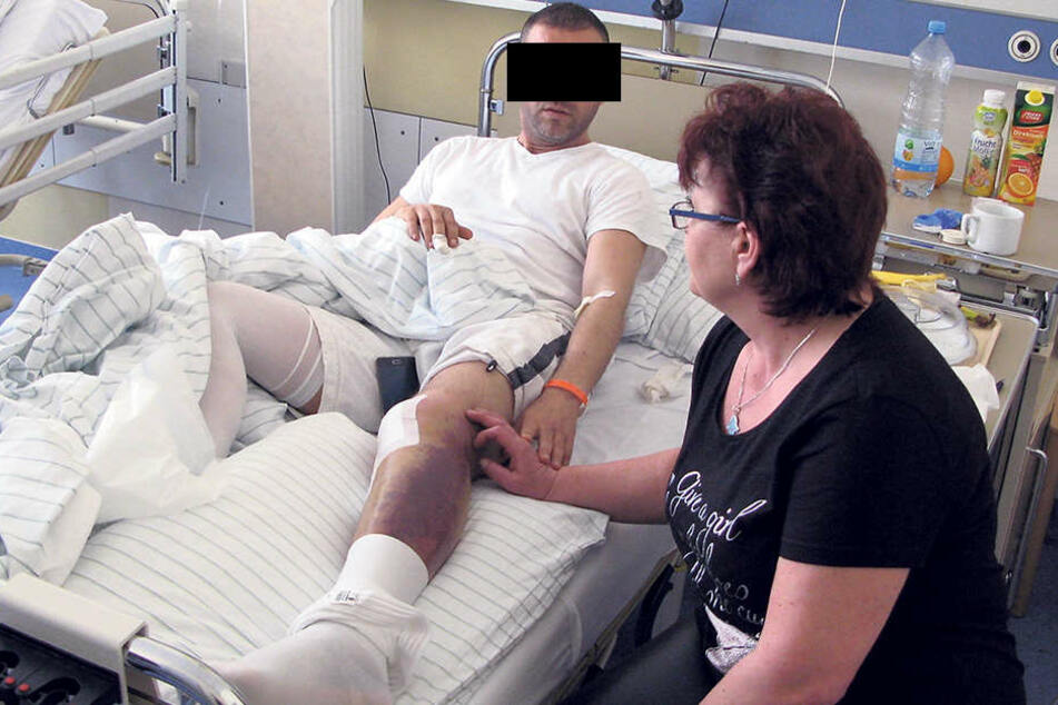 Nach einem harten Polizeieinsatz steht der Tunesier Hatem K. (35) - hier mit Frau  Simona (55) bald vor Gericht.