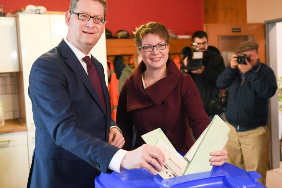 SPD-Spitzenkandidat Thorsten Schäfer-Gümbel hat seine Stimme abgegeben.