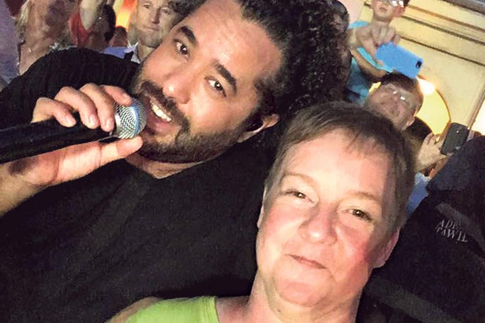 Bei Popkonzerten ist die Dresdnerin ganz vorn mit dabei. Adel Tawil brachte  ihr sogar ein Ständchen.