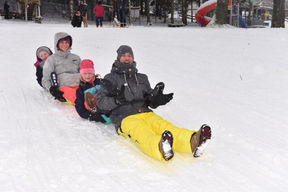 Guten Rutsch: Der erste Schnee sorgt immer für besonders viel Freude.
