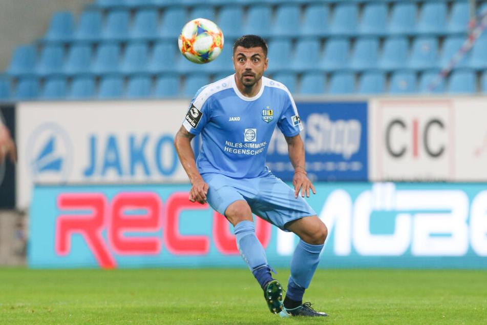 CFC-Spieler Georgi Sarmov fällt gegen den FC Ingolstadt aus.